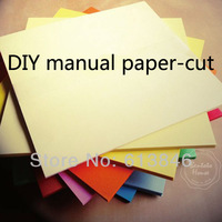 Free shipping Colorful DIY manual paper-cut  for kirigami and festal decoupage paper cutting teaching supplies