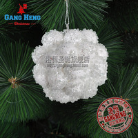 Christmas 8cm white luxury foam ball christmas tree decoration quality 40g