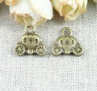 RY14*14MM Vintage car national vintage jewelry Korean pumpkin pendants carriage charm