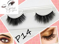 Free Shipping 27 different styles thick natural looking mink lashes strip / false eye lashes coded P14