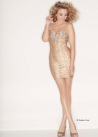 Newest Arrival Best Quality Rayon HL bandage dress Sexy Strapless Rhinestone Dress Evening Party Dress Wholesale
