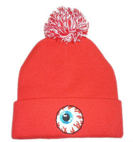 Goods Quality!2013NEW style. RED Mishka beanie HATS!Snowboard HATS,red,yellow,black  and rose red.four color,free shipping