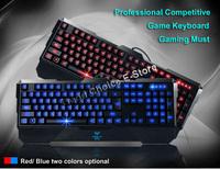 Top-Grade Professional Competitive Game Gaming Keyboard,Backlight Asjustable,Breathing,Black/Red,CS,CF,Dota,War3,Starcraft,LOL