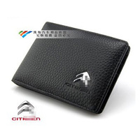 Genuine Leather License Bag CITROEN C4 Picasso C4L C5 C6 C-Quatre C-Triomphe Elysee  wallet purse notecase Car Logo Free HK post