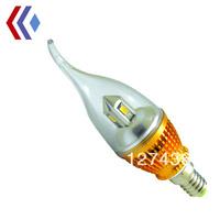 E14/E27 2W 5730smd Solid Tower Sunflower LED Chandelier Bulbs Candle Light  Downlight 110V 220V 240V