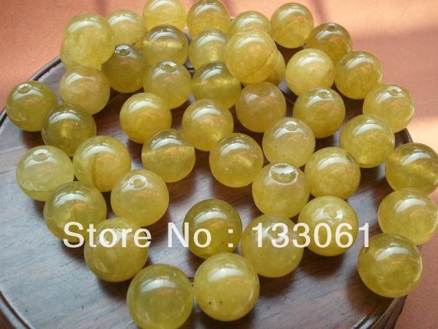 Free Shipping! New Arrival Fashon Accessory 160pcs Yellow Colors Quartzite Beads 13mm Loose Bead Statement Jewlery(China (Mainland))