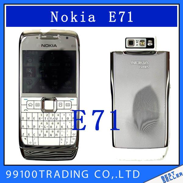 E71 original Nokia E71 GPS WIFI Bluetooth 3G JAVA 3.2MP mobile Phone Symbian os Good quality refurbished Free Shipping(China (Mainland))