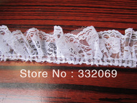 Professional Lace Trim Factory Direct, High Qulality Wrinkle Pleated White Lace Craft Approx 5cm Min order 500 yards