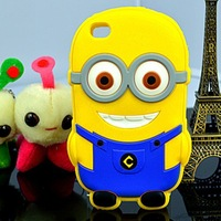 Free shipping Despicable Me silicone cases for iPhone 4/4s Samsung galaxy i9500/i9300/n7100 nice look best selling