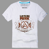 Free shipping! 2014 new fashion men T-shirts Linkin Park Road To Revolution burst cool  men's cotton short-sleeved T-shirt