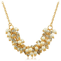 Accessories drip-drop fashion female short design chain crystal necklace
