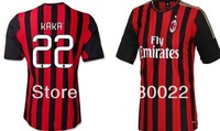 free shipping 2013-2014 AC milan kaka #8 mens football soccer jersey shirts uniforms embroidery customize logo