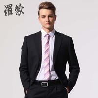 Romon male commercial fabric stripe suit set 6s15012
