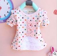 Free shipping Korean baby girls autumn tshirts new  2013 Girls Long Sleeve T-Shirt  Baby kids Tshirts sweats A169