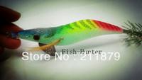 Fish 3.5  wood shrimp squid lure squid hook fishing lure fishing shrimp lure (multicolor,  stripe )