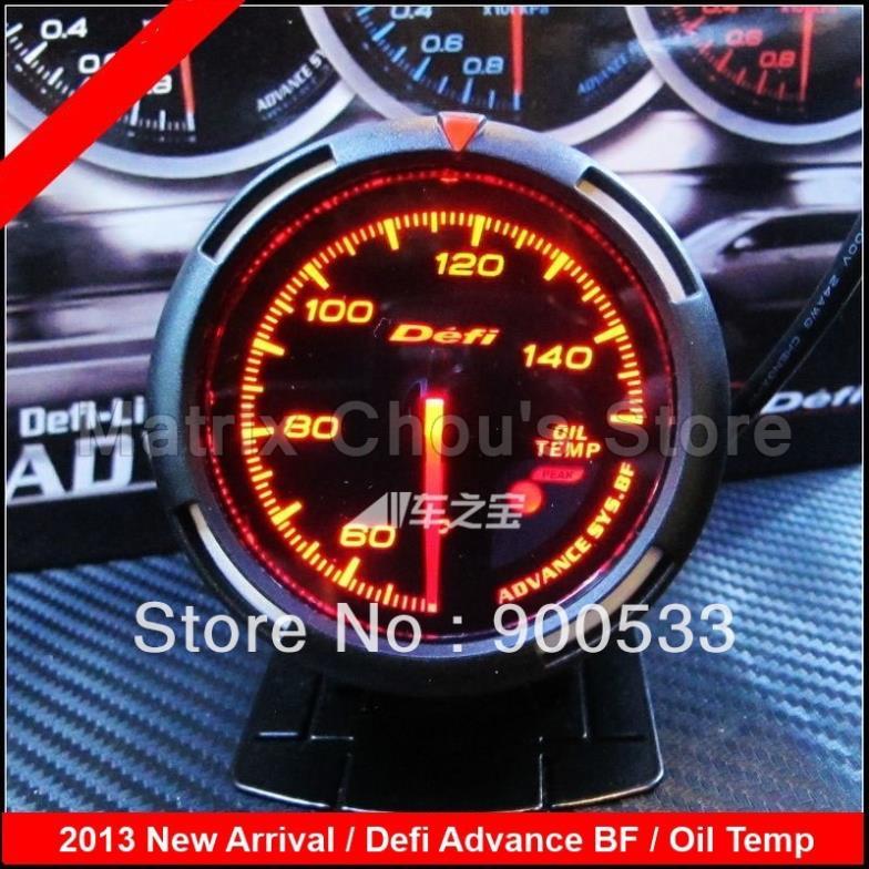 2013 Nova 2.5 INCH 60MM Defi Adiantamento BF Oil Temp Gauge / Oil Car Medidor de Temperatura , Defi indicador ( Opção de cor : vermelho ou azul claro)(China (Mainland))