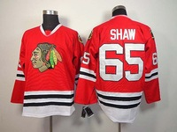 Hot sale Chicago Blackhawks  Ice Hockey Jersey  65 Andrew Shaw Red Free Shipping Mix Order