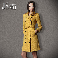 Free shipping Lace trench Women 2013 fashion medium-long plus size slim overcoat mm outerwear female