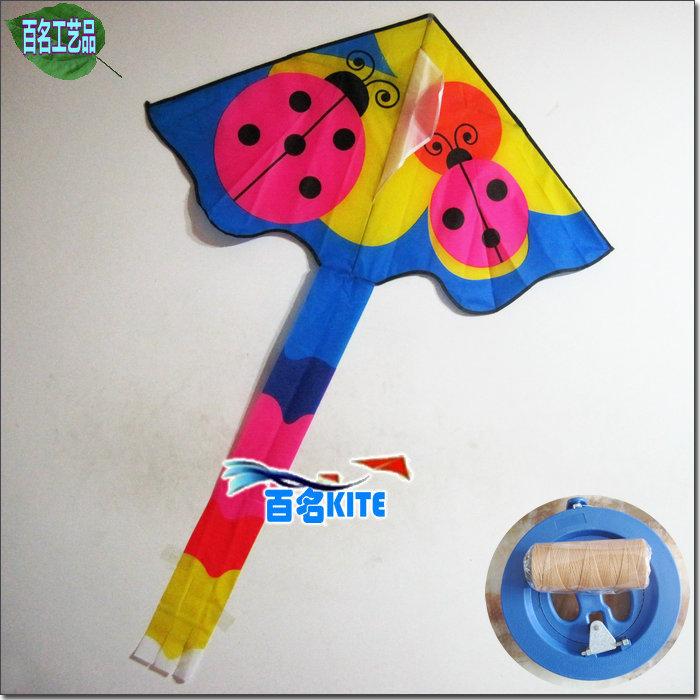 Tools 1.6 meters multicolour small ladybug kite liras kite child kite(China (Mainland))