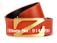 free shipping 2013 new Fashion brand Tablet Z letter head leather belt for men P9702