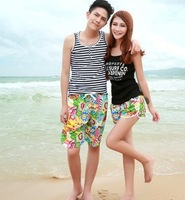 Free Shipping KZ14-1Sunflower Women's surf shorts beach pants