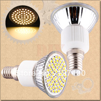 1pcs E14 Warm White 60 SMD 180V - 240V Screw Spotlight 220V 230V 60 LED Light Bulb Lamp
