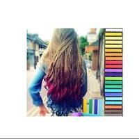 High quality haircolouring chalk soft crayon 24 hair pen hair dye stick hair chalk