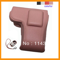 Free shipping  PU Leather Professional Dslr Camera Bag case for Sony NEX5R  drop shopping
