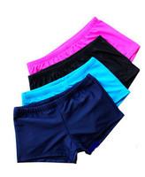 Plus size women's boxer swimming trunks four angle swim trunks