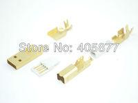 hi End Gold Plated USB connector USB A+USB B Type A-B Plug For DIY USB Cable Taiwan Made