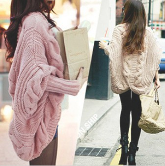 XL-051 women casual full batwing sleeve sweaters loose wraps cardigans new 2014 spring cardigan free shipping