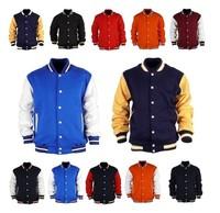 East Knitting AS-99 2013 Men's Premium Varsity College Letterman Baseball Jacket Uniform Jersey Hoodie Hoody US Black M/L/XL/XXL