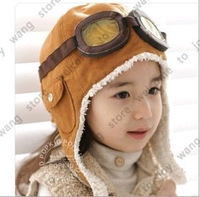5 PCS/Lot Baby Winter Hats Children Pilot Hat/Caps boys flight caps winter baby hat kids Warmer earflap beanie free shipping