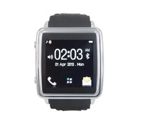 Promotional mobile phone anti-lost alarm touch screen the1920 caller id stereo bluetooth smart watch