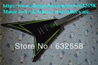 2013 New Arrival ESP Custom Flying V CrossBones COBHC Electric Guitar Ebony Fretboard Left-handed Guitar Available