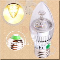 40pcs 3W 3x1W Warm White E27 Home Candle Bulb LED Light Lamp 85-265V 110V 220V 230V