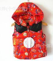 2013 qiu dong han edition children's cartoon hooded jacket children down vest vest--AU075