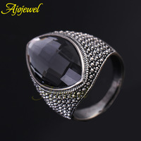 Free Shipping 2013 Latest 18k white gold plated gray austrian crystal cool mens jewelry fashion ring