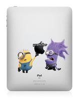 Free Shipping 2013 Skin Sticker for iPad Mini Stickers for iPad Minions