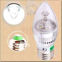1pcs 3W 3x1W Pure White E27 Home Candle Bulb LED Light Lamp 85-265V 110V 220V 230V