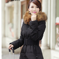 Plus size down coat medium-long raccoon large fur collar plus size mm winter clothing outerwear