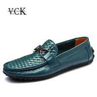 Vck genuine leather male gommini loafers casual shoes sailing boat men's leather lounged shoes low-top ck108