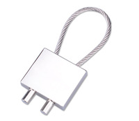 Square Steel Wire  Car Keychain key Ring Mothers Day Nice Hardware Gift accessories