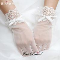 Bow lace decoration bridal gloves short gloves design wedding dress gloves formal dress accessories