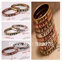 2013 New Fashionable Unisex European Popular Retro Simple Wish Ring Letters Send by Random YW13032232