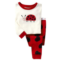 Children autumn -summer Sprots Clothing Sets Kids Boys Baby Insect Animal Lovely Sleepwear Outfits 2pc Tops + Pants Sets 2-7T
