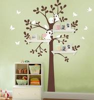 SIA 2014 New Design XXL Large Size Label 180x147cm Bear & Tree Wall Sticker Koala Cartoon Nursery Daycare Baby Room Decor Decal