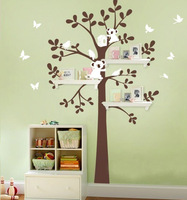 SIA 2014 New Design XXL Large Size Label 180x147cm Bear & Tree Wall Sticker Koala Cartoon Nursery Daycare Baby Room Decor Decal