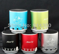 Free Shipping 1Pc New Mini Portable K09U USB FM Radio Speaker Music Player TF Card For iPhone PC MP3