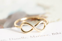 R2 Gold Silver Infinite Knuckle Rings Pinky Rings For Women
